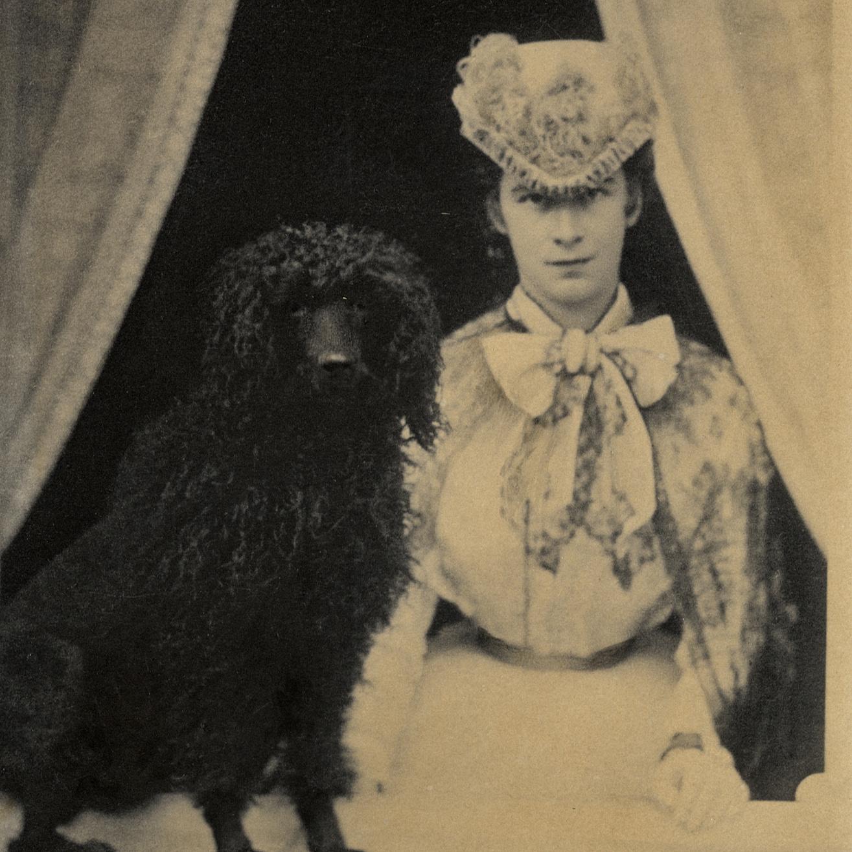 Gazdi és a kutyája a főúri udvarban